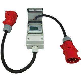 PCE CEE Adapter Würfel 16 A 400V Stecker Starkstrom auf 3x 230V Schuko Kupplung